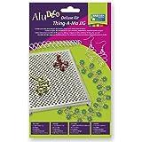 Vaessen Creative Alu Deco Thing-A-Ma Jig | Deluxe Kit, aluminium, zilver, 14 x 12 x 1,8 cm