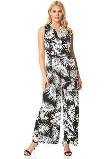 Roman Originals Womens Abstract Puff Print Twist Dress