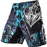 LAFROI Mens MMA Cross Training Boksen Shorts Trunks Vechten Wear met trekkoord en zak-QJK01