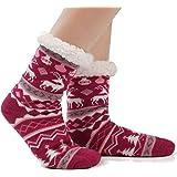 JARSEEN Donna Uomo Calze a pantofola ultra morbidi caldo termici Calzini invernali Natale Calze con Suola Antiscivolo