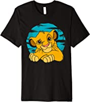 Disney The Lion King Young Simba Resting Blue 90s T-shirt