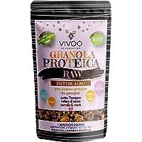 VIVOO RE-EVOLUTION | GRANOLA PROTEICA RAW - PROTEINE DI LINO - gusto CANNELLA E MACIS| Biologico, Raw | Senza Zuccheri aggiunti | Confezione 150 g cad.