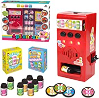 Mini Electric Beverage Vending Machine Toy with Light and Sound for kids children Birthday Gift Toy Set for Boys and...