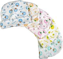 BRIM HUGS & CUDDLES Printed Cotton Caps Unisex Babies (Multicolour, HC-308C_PACK_OF_5)