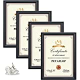 PETAFLOP Cadre Photo A4 Lot de 2, Cadre Photos Noir 21x29.7 cm pour Document Diplôme Certificat Portrait