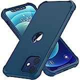 "ORETECH Funda Silicona Carcasa para iPhone 12 Pro y iPhone 12 6.1"", con [3X Protector de Pantalla Vidrio Cristal Templado]360"