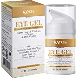 Kayos Eye Gel, Hyaluronic acid for Wrinkles, Fine Lines, Dark Circles, Puffiness, Bags - Hydrating, Firming, Rejuvenates…