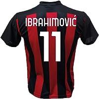 DND Di D'Andolfo Ciro Maglia Calcio Zlatan Ibrahimovic 11 A.C. Milan Replica autorizzata 2020-2021 Taglie da Bambino e…