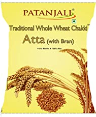 Patanjali Traditional Whole Wheat Chakki Atta with Bran, 10kg