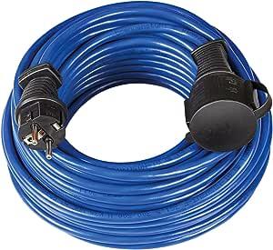 Brennenstuhl Bremaxx Verlängerungskabel 10m Kabel In Blau Für Den Kurzfristigen Einsatz Im Außenbereich Ip44 Stromkabel Einsetzbar Bis 35 C Öl Und Uv Beständig Baumarkt
