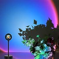 Sunset Projection Lamp 360 Degree Rainbow Projection Lamp USB LED Lampe, Chambre à Coucher éclairage, Nuit Romantique…