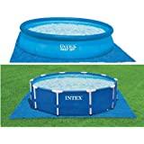 قطعة قماش أرضية لحمام السباحة من إنتكس بطول 2.44 م إلى 4.56 م مستديرة فوق الأرض