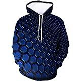 Hoodies for Men - Men's Plus Size Long Sleeve Casual Pullover Outwear Premium 3D Print Loose Hooded Sweatshirt