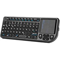 Rii X1 Mini Tastatur Wireless, Smart TV Tastatur, Kabellos Tastatur mit Touchpad, Mini Keyboard für Smart TV…
