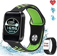 obqo Smartwatch Orologio Fitness Tracker Uomo Donna Bambini Cardiofrequenzimetro Impermeabile IP67 Contapassi Pressione Sang