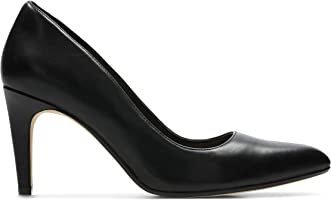 Clarks Laina Rae, Women's Women Pumps, Black (Black Leather), 6 UK (39.5 EU)