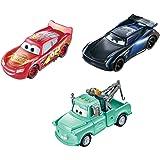 Disney Pixar Cars Color Changers pack 3 voitures changeant de couleur dans l'eau, Flash McQueen, Martin et Bobby Swift, jouet