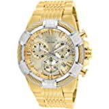 Invicta Men's Bolt Quartz Watch with Stainless-Steel Strap, Gold, 16 (Model: 25868)