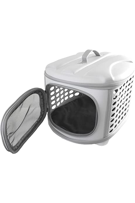 YATEK Transportin Plegable Perros y Gatos Lavable Recomendado para Mascotas de hasta 6kg de Color Gris Claro: Amazon.es: Productos para mascotas