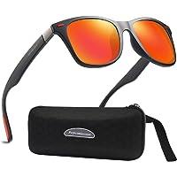 Lunettes de Soleil polarisées Homme Femme/Sports Eyewear réfléchissantes avec Sports de Plein air d'été Conduite pêche Alpinisme Lunettes de Soleil Hommes