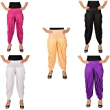 Neoteric Women's Viscose Cotton Patiala Pant 5 colours(Colour may vary) Pack of 5