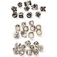 XUBX 30 Pezzi Bottoni a Spilla di Perle, Spilla da Donna per Vestiti, Prevenire Accidental Esposizione Bottoni Spilla in…