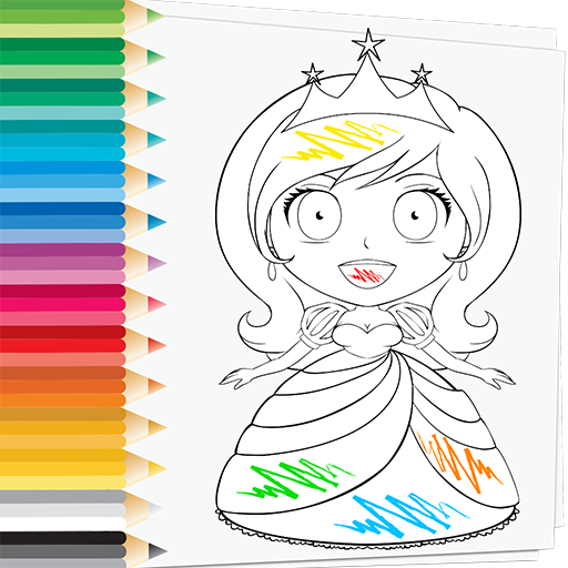 Pretty princess coloring pages - timeless-miracle.com | 512x512