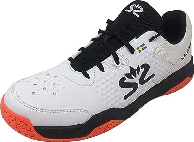 Salming Men Shoe White/Black, Hawk Court Indoor Uomini Scarpa Bianco/Nero Uomo, 20 EU