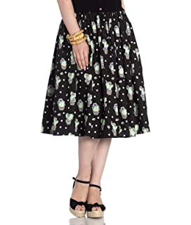 Gonna lunga con Frilly Polly di Hell Bunny con Sottogonna di Tulle in Stile Swing 50s Rockabilly Vintage