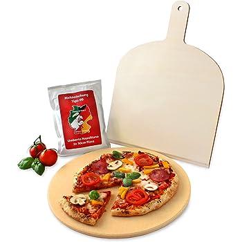 Vesuvo v32001 set pietra refrattaria per pizza pane da forno e griglia diametro 32 cm con - Pietra refrattaria da forno ...