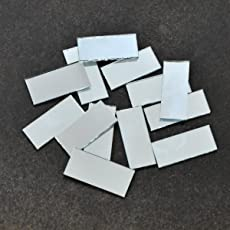 Embroiderymaterial Shisha Mirrors for Embroidery and Craft Purpose, Rectangle Shape, 24*8MM, 100Pcs