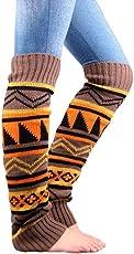 coromose Women's Leg Warmers Stretch Boot Leg Cuffs Bohemia Socks