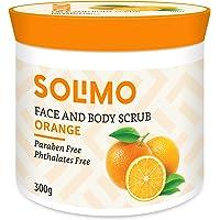 Amazon Brand - Solimo Orange Face and Body Scrub