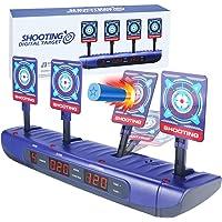Cible pour Nerf,Cible D'effet Sonore et Intelligent à Automatique pour Les Pistolets Nerf N-Strike Elite/Mega/Rival…