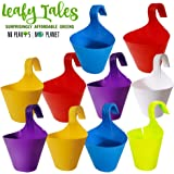 Leafy Tales Hook Planters for Plants Railing Flower Pots, Balcony Railing Vertical Hanging for Home Gardening…