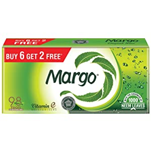 Margo Original Neem Soap - 125gm Pack of 8 (Buy 6 Get 2 Free)