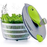 kilokelvin Plastica centrifuga per Insalata 4 Litri Asciugatrice Rapida per Verdure BPA Gratuito
