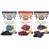 WONDERLAND FOODS (DEVICE) Dried Fruits Berries Set Combo Pack (Blueberry 150 g + Sliced Cranberry 200 g + Prunes 200 g) Low-S