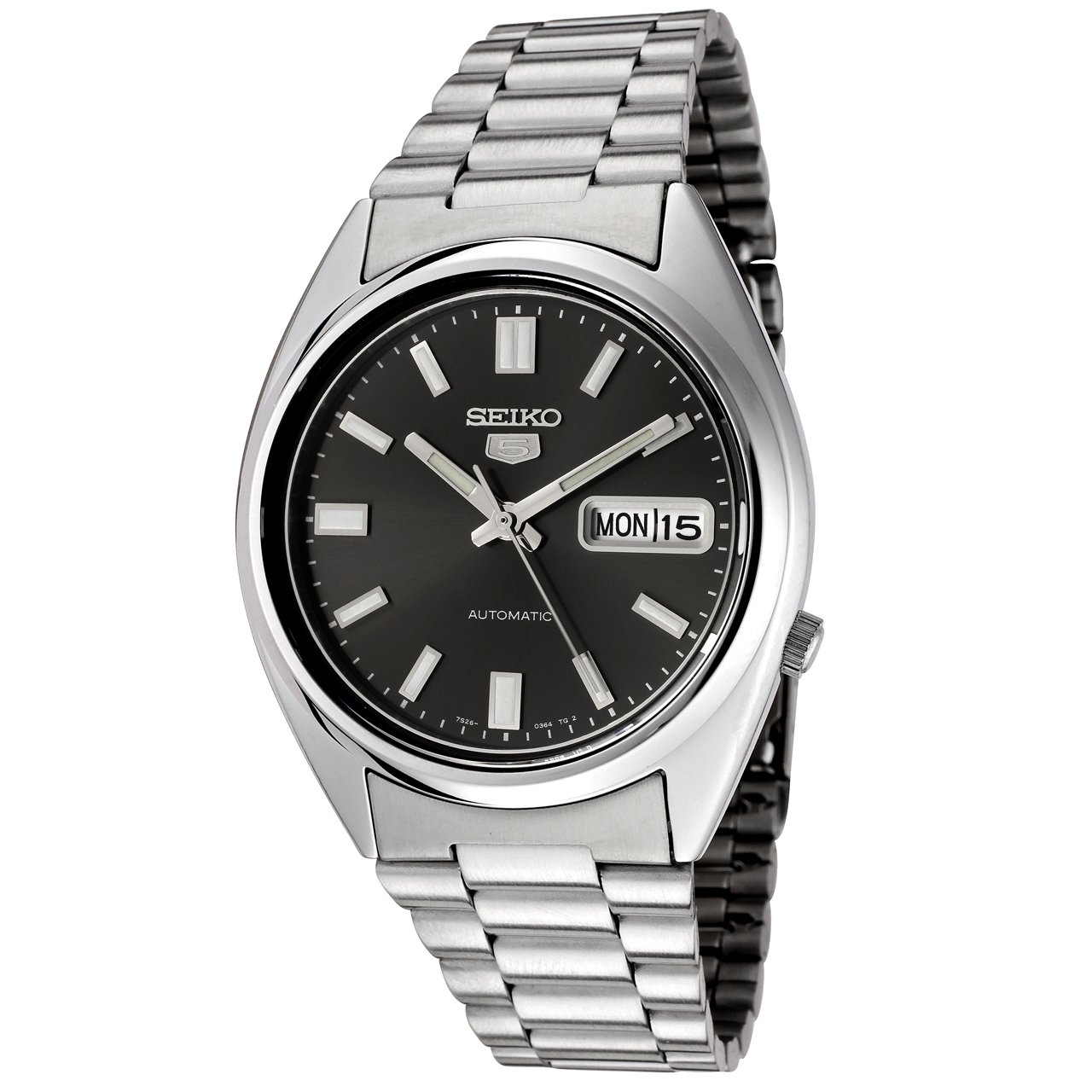 Seiko Unisex Analogue Quartz Watch with Stainless Steel Bracelet – SNXS79K