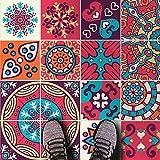 HomeArtDecor | Dekorative Fliesen | Mexikanische Maya Talavera Wandfliesen und Bodenfliesen | Fliesenaufkleber | Einfach Schälen und Kleben | Geeignet für Küche und Bad | Wasserdicht | Wohnkultur | Frühjahrs Kollektion 2018