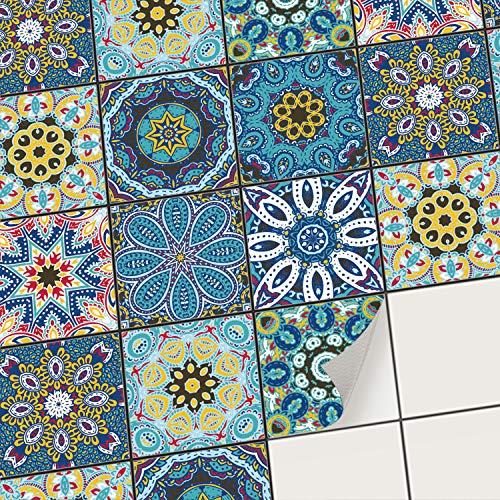creatisto Mosaikfliesen Fliesenaufkleber Fliesenfolie - Klebefolie Aufkleber für Wand-Fliesen I Stickerfliesen - Mosaikfliesen für Küche, Bad, WC Bordüre (10x10 cm I 36 -Teilig) -