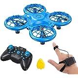 Dragon Touch Mini Drone para Niños con LED Control Remoto Modo sin Cabeza Volteos 3D Estabilización de Altitud RC Quadcopter