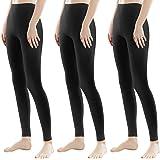 Libella 1/3er Donne Lungo Leggings colorato Pantaloni con Vita Alta vestibilità Slim Atletico in Cotone 4108VA