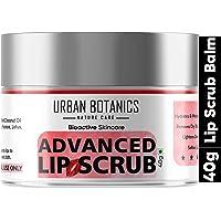 UrbanBotanics® Advanced Lip Scrub Balm - Lightening and Brightening Dark Lips - Lip Scrub For Women & Men Smoker/Dry…