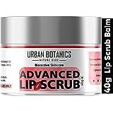 UrbanBotanics® Advanced Lip Scrub Balm - Lightening and Brightening Dark Lips - Lip Scrub For Women & Men Smoker/Dry/Chapped
