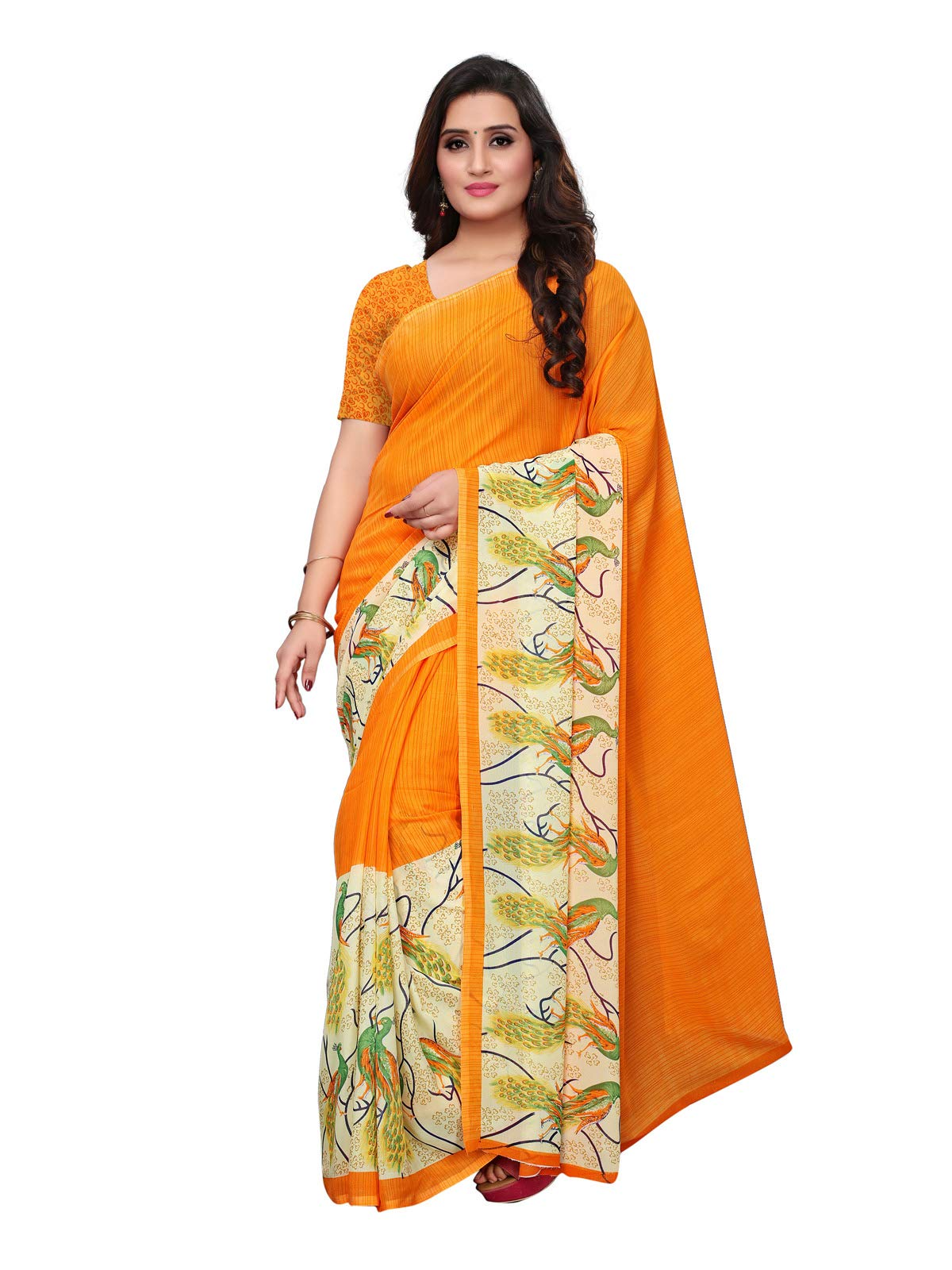 Kanchnar Women's Georgette Saree