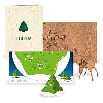 Originelle Weihnachtskarten.3 X Originelle Weihnachtskarten Im Set In 3 Motiven Rentier Zum Basteln Tannenbaum Zum Pflanzen Weihnachtsbaum Zum Ausschneiden