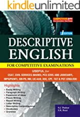DESCRIPTIVE ENGLISH: (For All Competitive Examinations)