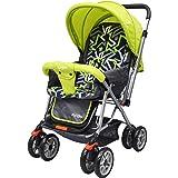 Little Pumpkin Kiddie Kingdom Stroller and Pram for Baby | Kids | Infants | Newborn |Boy & Girl of 0 to 3 Years((Green Black)