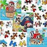 German Trendseller® - 3 x puzzles de pirates ┃Ohé du bateau!┃la fête des pirates┃l'anniversaire d'enfant ┃pour petits cadeaux┃chasse au trésor┃25 psc par puzzle